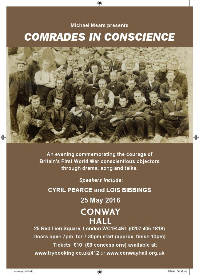 Comrades In Conscience flyer